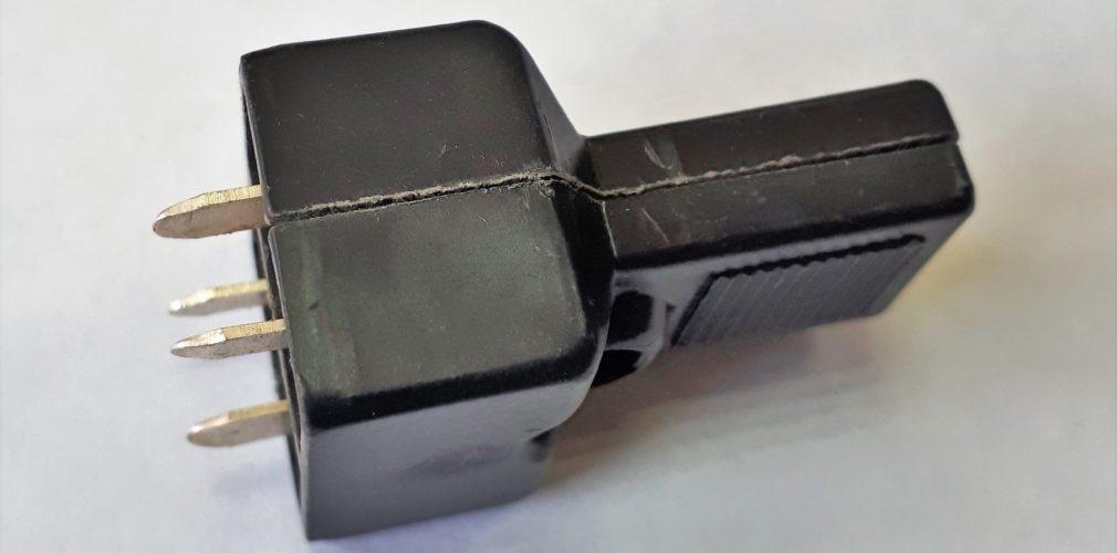 Колодка коммутационная 4-х контактная (штепсель, вилка)